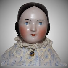 Kestner German China Head Covered Wagon Hairstyle Doll