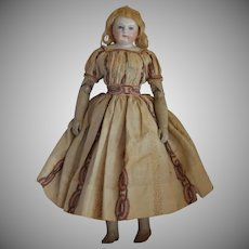 French Huret Fashion Doll with China Head and Wood Body