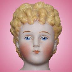 German Parian Bisque Shoulder Head Doll by Alt, Beck & Gottschalck