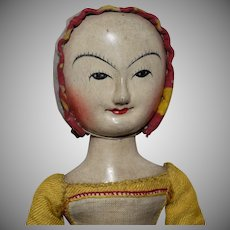Old Pretenders Wooden OOAK Replica William and Mary Period Doll