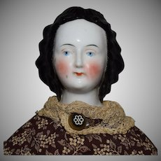 German China Head Doll with Early Hairstyle