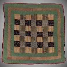 Antique Hand Sewn Pieced Doll Quilt
