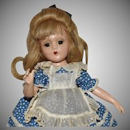 Rare Composition Madame Alexander Alice in Wonderland Wendy Ann Face with Swivel Waist