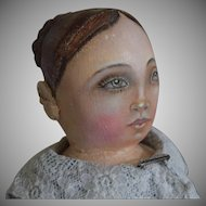 OOAK Cloth Artist Doll, with Braided Bun Hairstyle, by Rhonda King