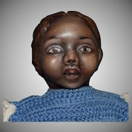 Petite OOAK Black Cloth Artist Doll by Rhonda King