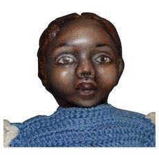 Petite OOAK Black Cloth Artist Doll by Rhonda King