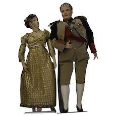 Bisque Head Historical Dolls of Napoleon and Josephine by Artist Kathy Redmond