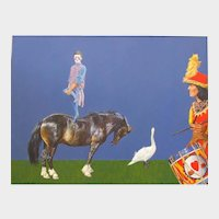 "Philip Harlequin Palmer (England b.1963) ""Circus"" Acrylic on Paper"