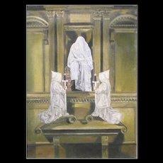"Philip Harlequin Palmer (British b.1963) ""Avalon Gateway"" Oil on Canvas"