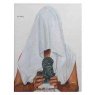 "Philip Harlequin Palmer (British b.1963) ""The Grail Quest"" Acrylic"