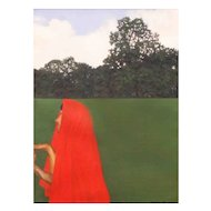"Philip Harlequin Palmer (British b.1963) ""The Red Druid"" Oil on Canvas"