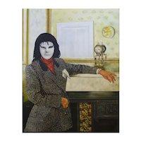 "Philip Harlequin Palmer (British b.1963) ""Portrait of a Vampyre"" Oil on Canvas"