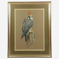 Richard Ward (Irish) Peregrine Falcon Original Acrylic Art