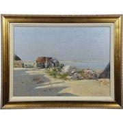 William Arthur Laurie Carrick (Scottish, 1879-1964) Beach Scene Oil on Canvas