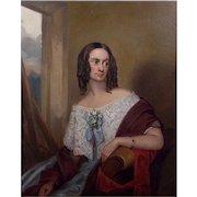 Antique 19th Century British School Portrait of a Lady Oil on Canvas