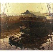"""Alfredo Giglioni (Argentina, 20th Century) """"Contra Luz"""" Oil on Canvas"""