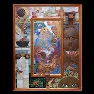 "Philip Harlequin Palmer (British b.1963) ""The Mirror of Circe"" (2011) Painting & Sculpture Mixed Media"