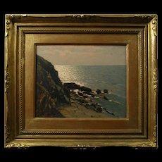 Giovanni Lomi (Italian 1889-1969) Costiera Tocsana/Liguria (1948) Oil on Panel