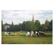 David Smith (British b April 5 1949) Hartfield Village Green East Sussex Oil on Canvas