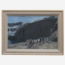 Tom Coates (British b1941) The Lizard, Cornwall, Oil on Canvas