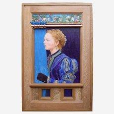 "Philip Harlequin Palmer (British b.1963) ""Awakening"" Painting & Sculpture Acrylic on Canvas and Mixed Media"