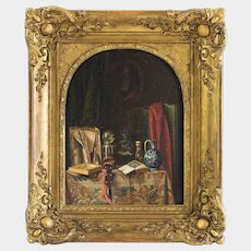 Georges Chone (French 19th Century) Still Life (1846) Oil on Panel. Signed and dated.