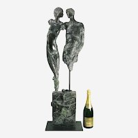 Jurgen Gorg (German b. 1951) Adam & Eve Bronze Sculpture.