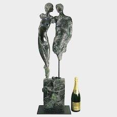 Jurgen Gorg (German b. 1951) Adam & Eve Bronze Sculpture.