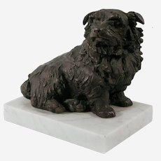 Sally Arnup (British 1930–2015) Bronze Sculpture of a Norfolk Terrier Dog