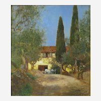 Herbert Alexander (British 1874-1946) Cercina Near Florence (1898) Oil on Wood Panel