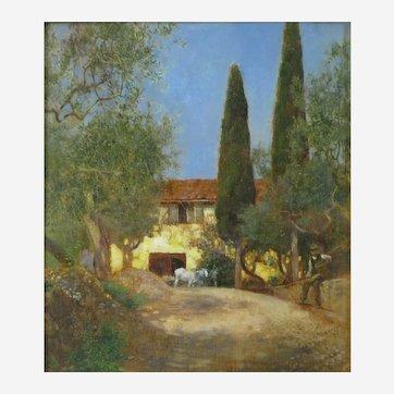 Herbert Alexander (British 1874-1946) Cercina Near Florence (1898) Oil on Wood Panel