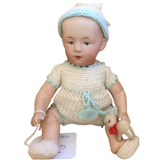 Heubach mold 7602 pouty character baby, painted eyes
