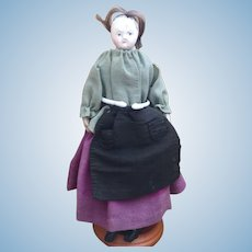 19th century French-style papier mache doll