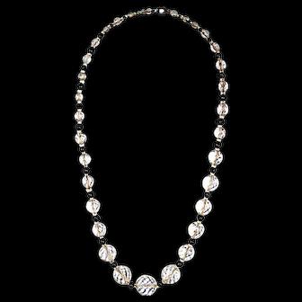 Vintage 1930s Graduated Cut Crystal Bead Necklace