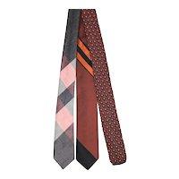 Vintage c.1960 Trio of Skinny Ties