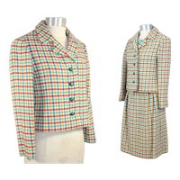 Vintage 1960s Tiffeau & Busch Wool Tweed Spring Suit XS