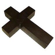 Antique Late Victorian Vulcanite Cross Pendant