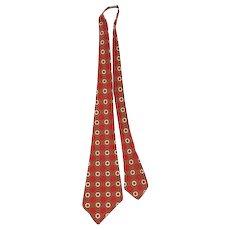 "NOS Vintage 1930s ""Artistic of Baltimore"" Deco Foulard Wool Wide Tie"