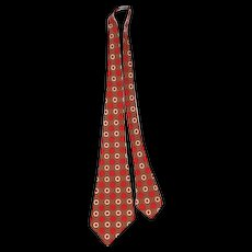 "NOS Vintage 1930s ""Artistic of Baltimore"" Deco Foulard Wool Wide Tie"