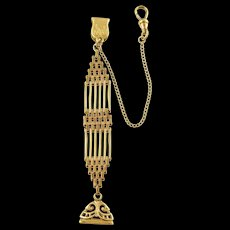 Antique 1910s R.F.Simmons Rose Gold-Filled Watch Fob Chain