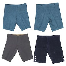 3 Pairs c. 1920 Boy's Straight Knee Pants Wool & Corduroy