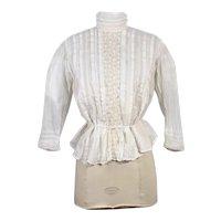 "1900s Edwardian Cotton Batiste Shirtwaist or Blouse ""The Royal"" XS/S"