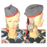 Vintage 1940s Ladies' Envelope Hat Glengarry or Garrison Cap
