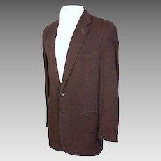 Vintage 1950s Atomic Fleck Rayon Sport Coat Blazer