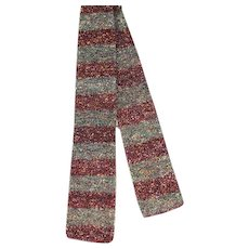 Vintage 30s/40s  Fashionknit Cross Stripe Knit Tie Lindbrook's