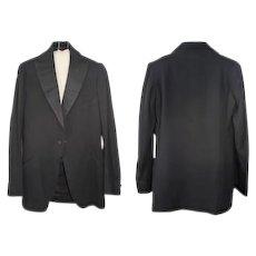 Late Teens/Early 1920s Hand-Tailored Tuxedo Jacket Tonis Brockton XS/S