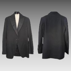 Late Teens/Early 1920s Hand-Tailored Tuxedo Jacket Tonis Brockton XS/S