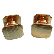 Vintage Art Deco Goldtone Swank Kum-A-Part Cufflinks