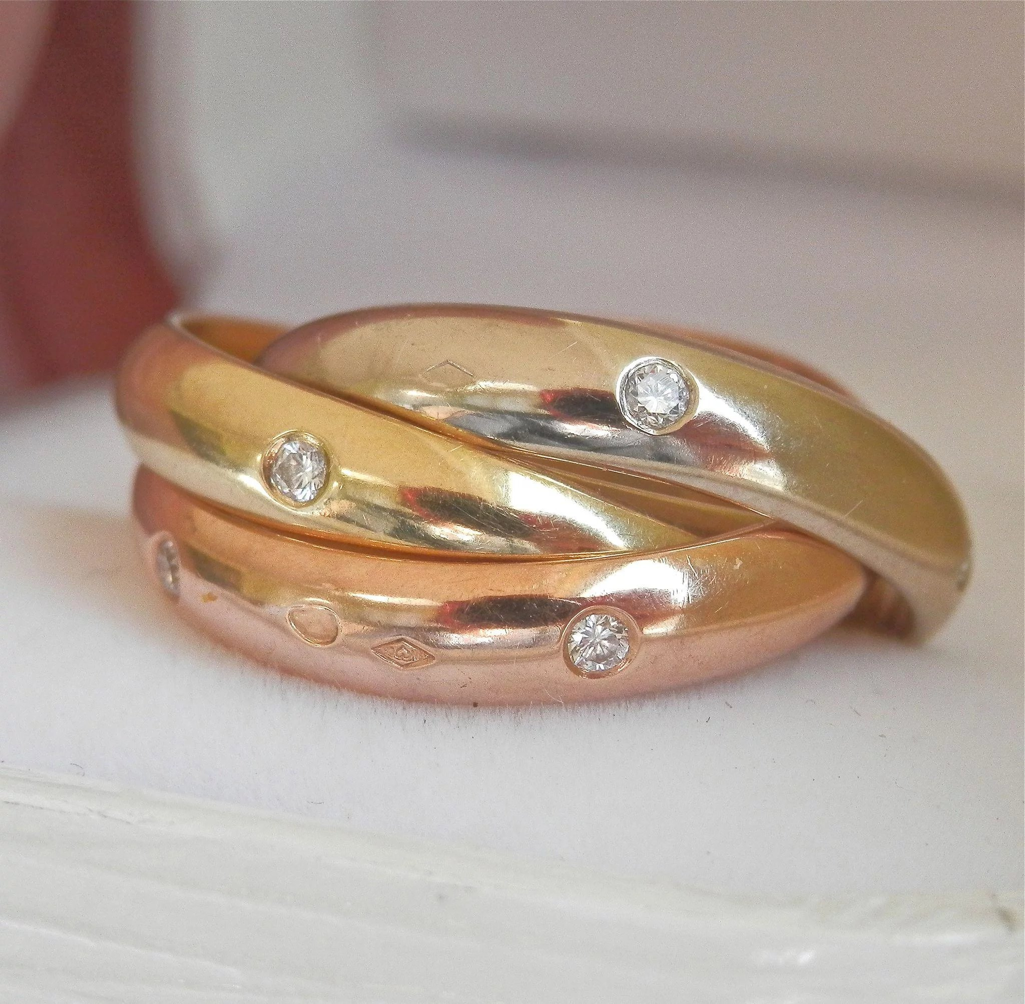 white or mens yellow wedding band itm finish inset ebay bands hammered gold g