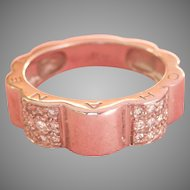 Final Markdown! 18K W/Gold Diamond CHANEL Profil de Camellia Ring